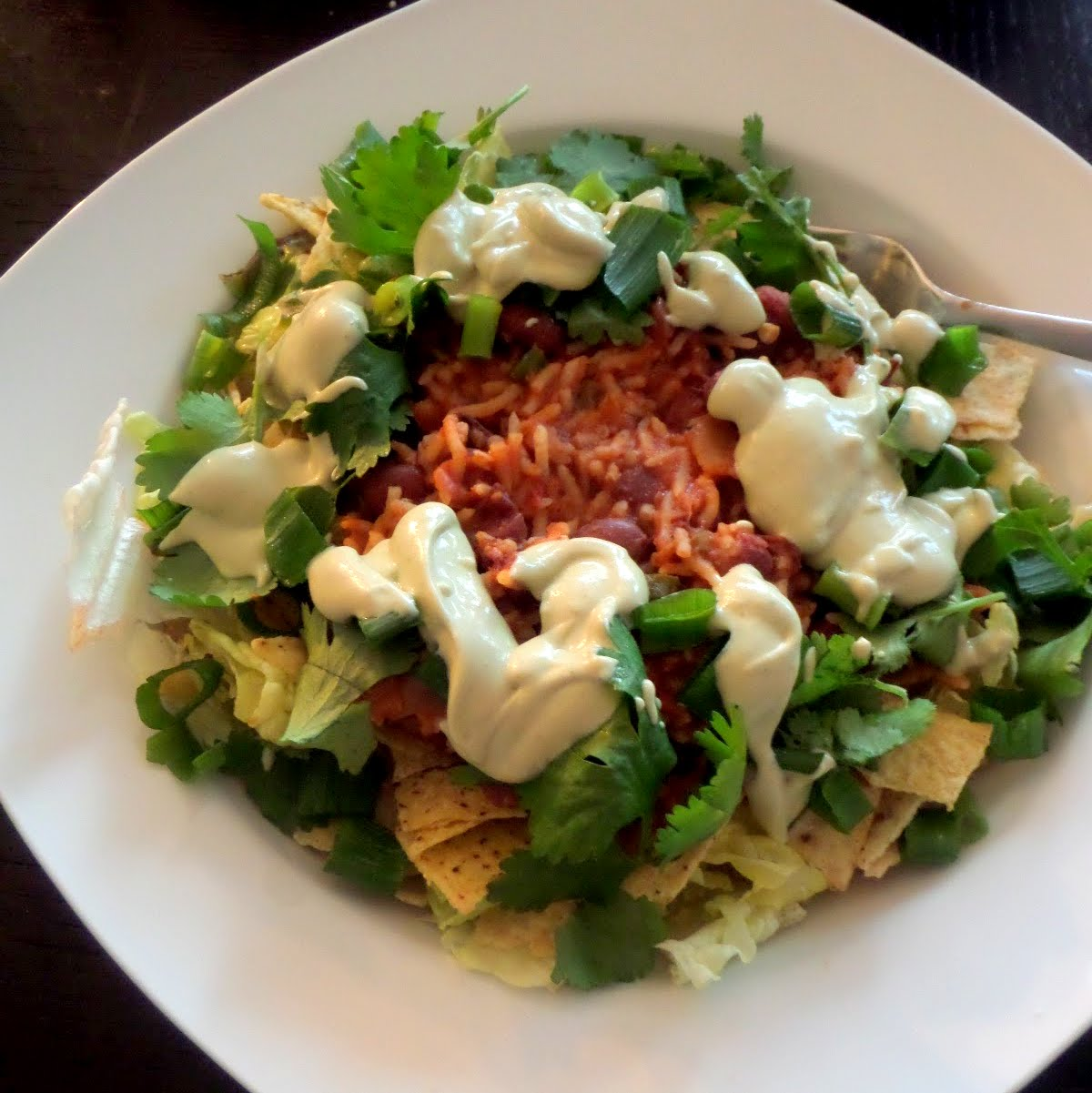 bean taco salad with try this for taco tuesday two bean taco salad ...