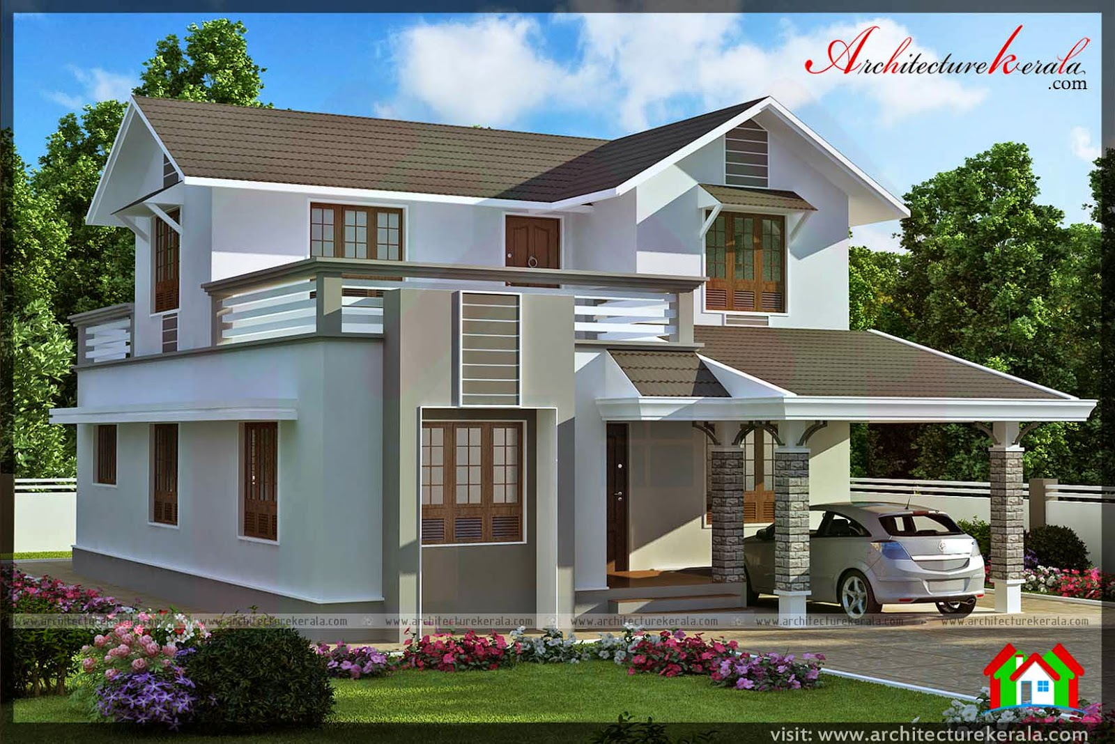 4 Bedroom Contemporary Style House Architecture Kerala