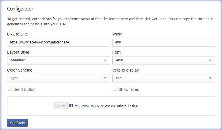 how to add facebook like button to blogger