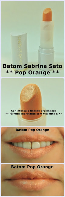batom sabrina sato pop orange yes! cosmetics