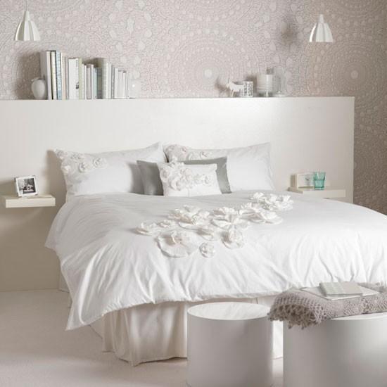 EV DEKORASYON HOB?: Beyaz yatak odas? dekorasyonu