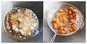 วิธีทอดปลาทับทิมเพื่อทำยำสมุนไพร
