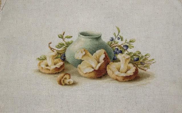 лукас, натюрморт с грибами, лука-с