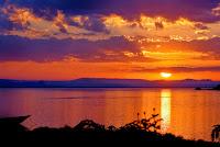 Uganda sunset Africa