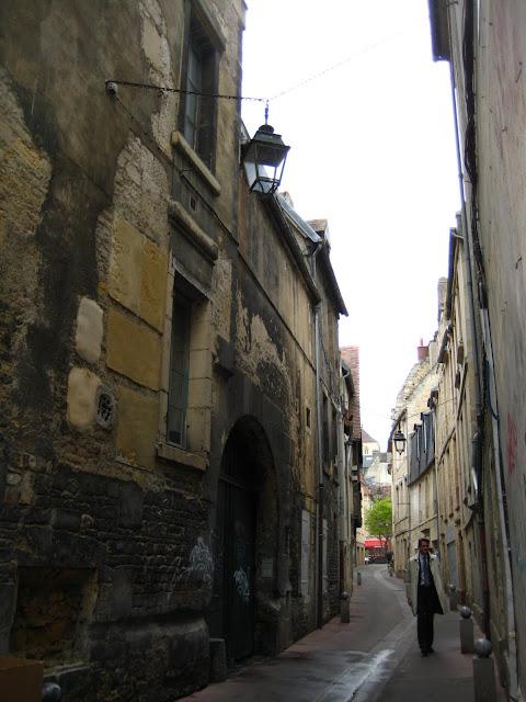 Street scene in Caen, France.