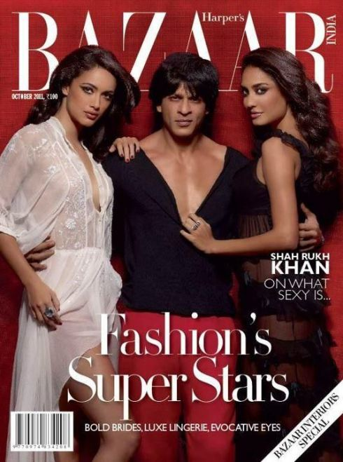 SRK With Lisa Hayden And Angela Jonsson For 'Harpers Bazaar'