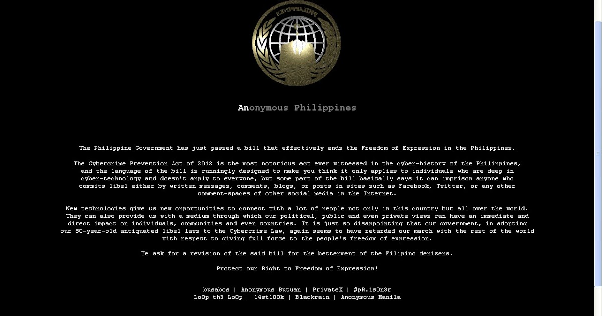 on the philippine cyber crime law Manila, philippines - us-based international human rights groups on thursday criticized the philippine government for passing the cybercrime prevention act of 2012, which is seen to curtail internet freedom.