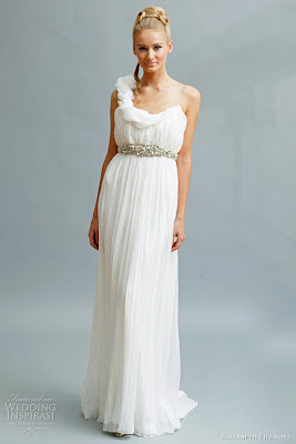 Daria Goddess Draped Fortuny Pleated Chiffon Gown