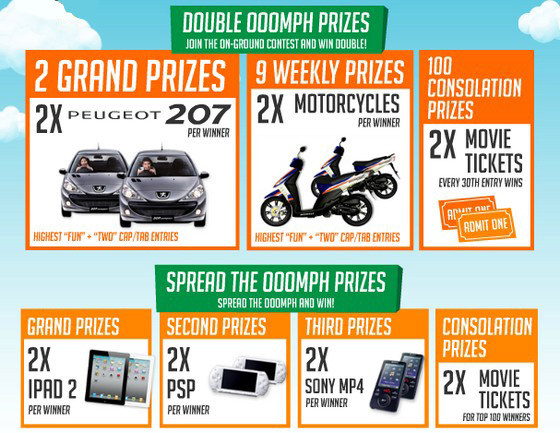 Hadiah F&N Double Ooomph Contest