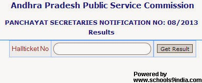 AP Panchayat Secretary Results 2014 Merit List / Ranks List / Score Card