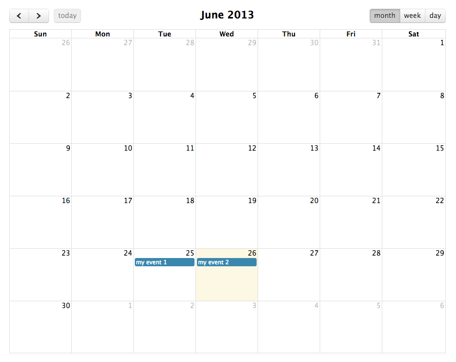 Table Calendar Jquery : Jquery fullcalendar integration with php and mysql