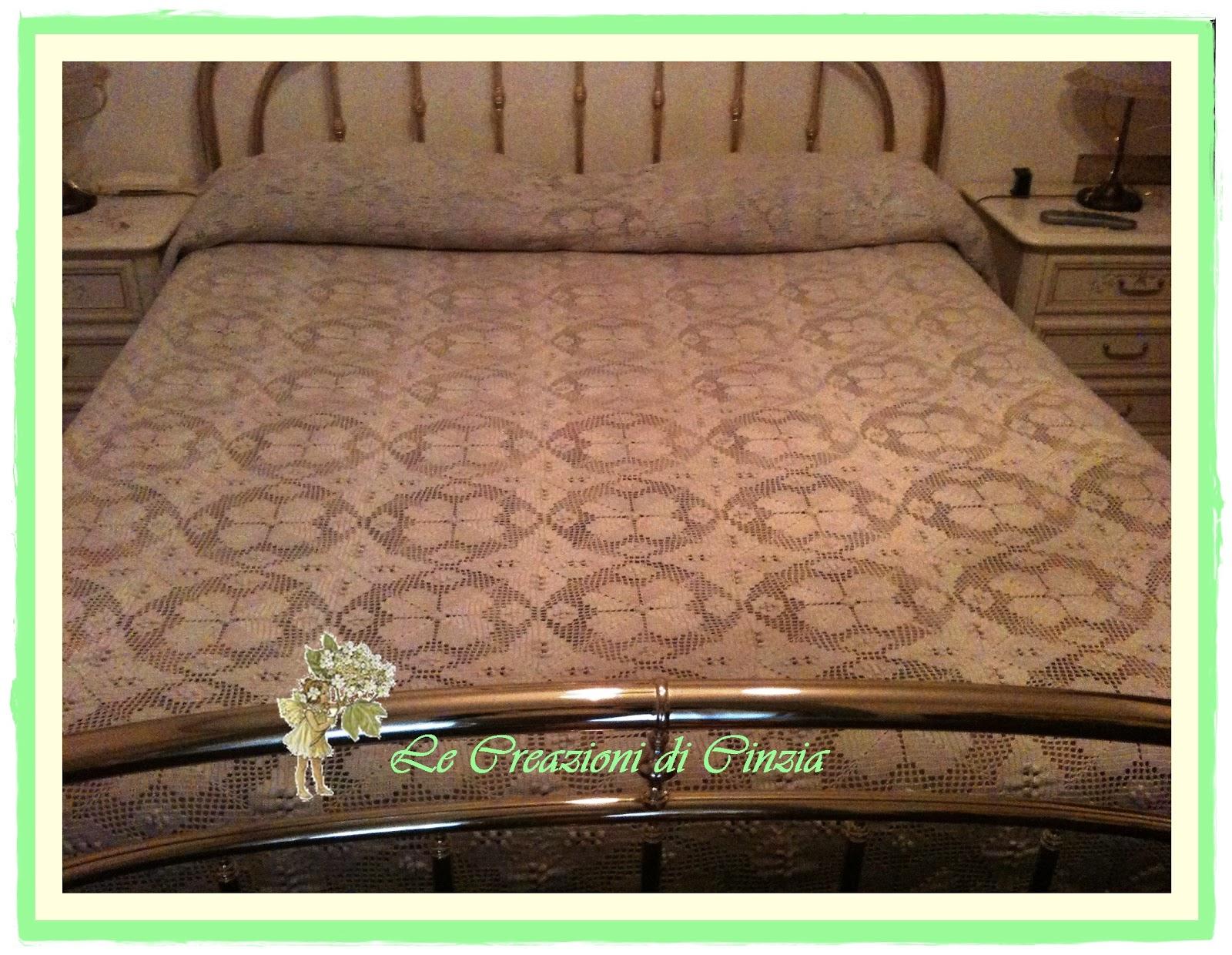 Le creazioni di cinzia coperta matrimoniale in cotone for Piccoli piani di coperta