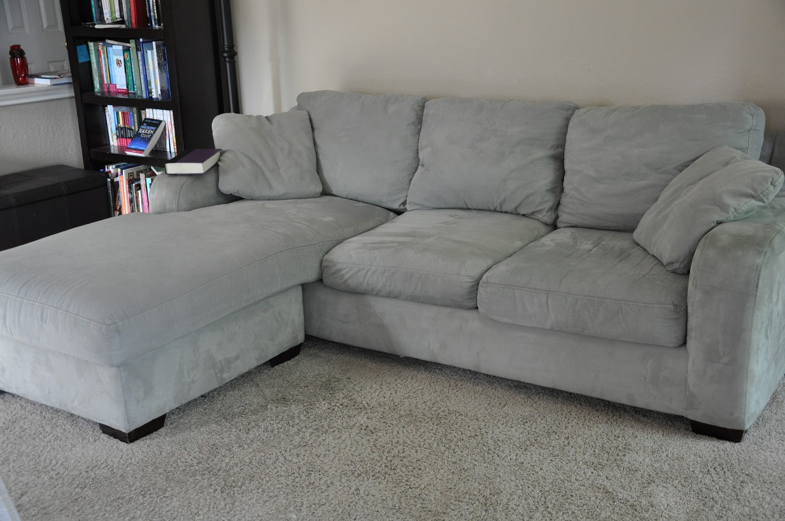 Overstuffed sofa - I Cleaned My Couch