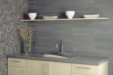 gray stone backsplash grey stone tile backsplash