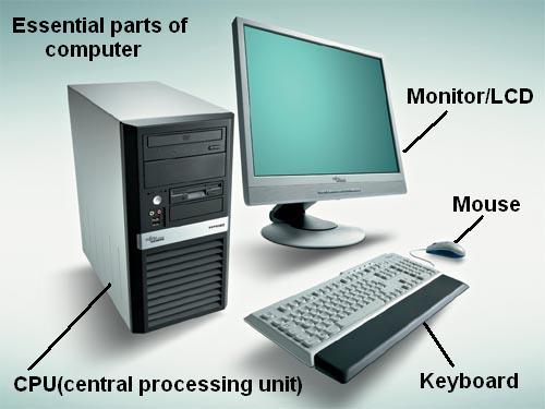 basic parts of computer You will work with a number of basic electronic components when building electronic circuits, including resistors, capacitors, diodes, transistors, and integrated circuits.