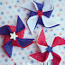 4th of July Pinwheel Hairclips