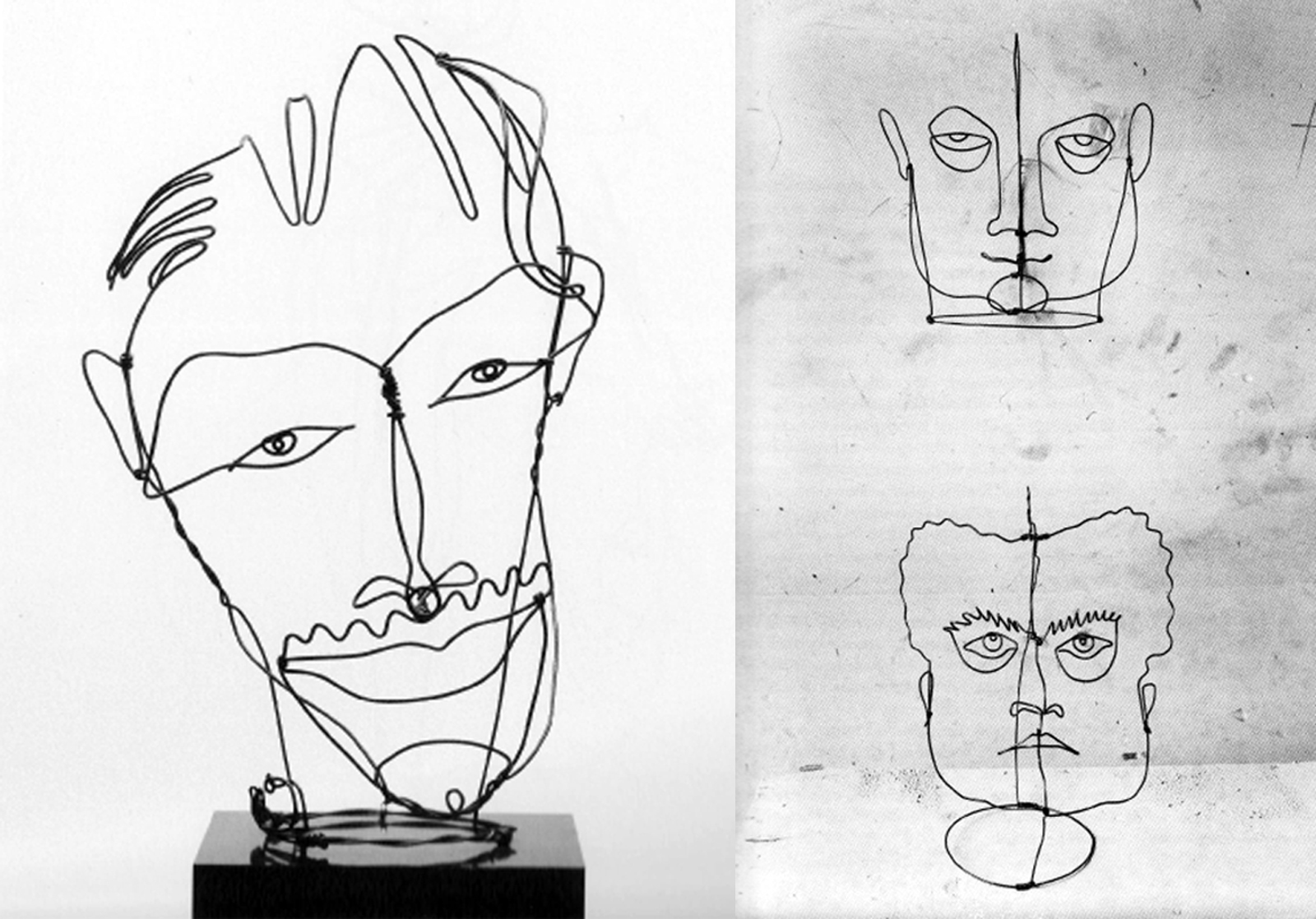 Contour Line Drawing With Wire : Process quot the artist with two brains