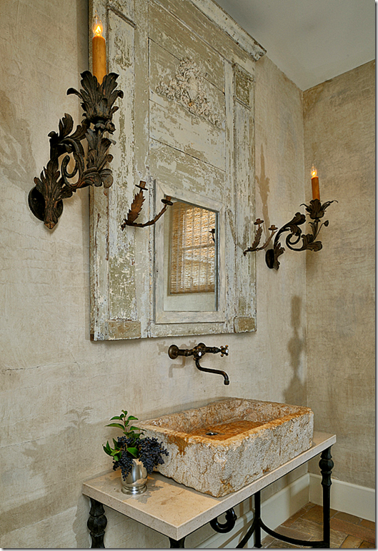 decoracao toalha lavabo : decoracao toalha lavabo:Rustic Powder Room Ideas