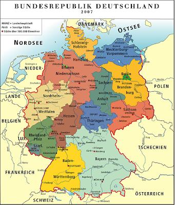 Carte de l'Allemagne Departement