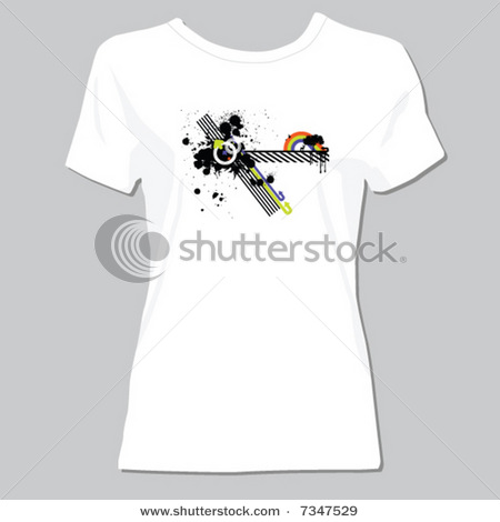 white t-shirt design with classic forms