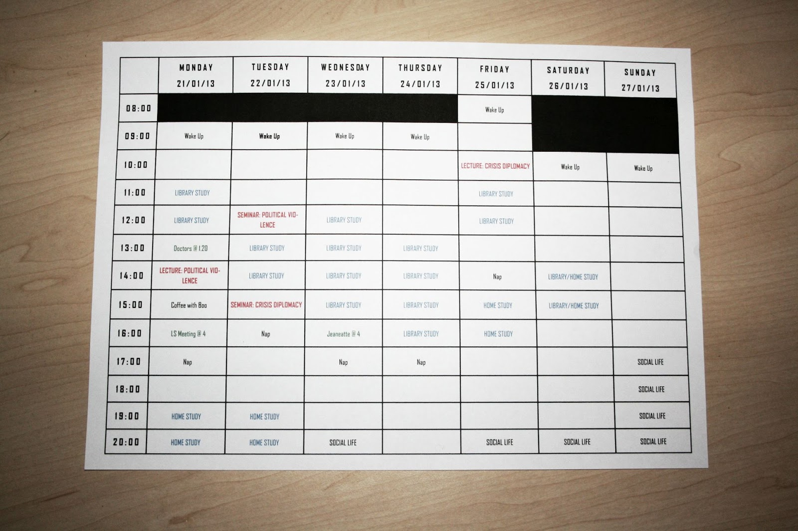 harley wood  my top tips for a successful timetable