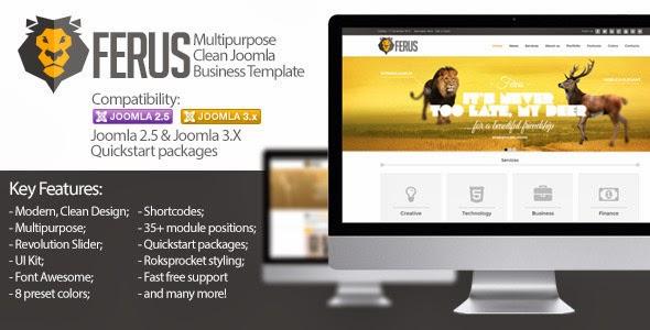 Ferus – Clean Responsive Multipurpose Joomla Theme
