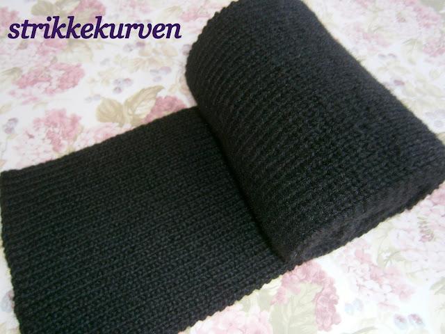 sort strik halstørklæde