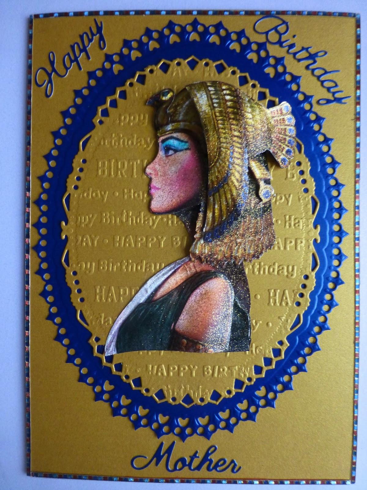 Craftetter Egyptian Birthday Card – Egyptian Birthday Cards