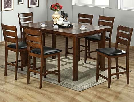 spane 7pc cherry finish solid wood