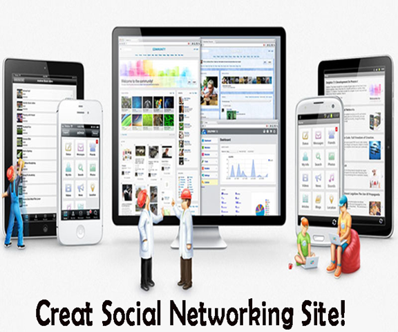 How to make a social networking website using notepad