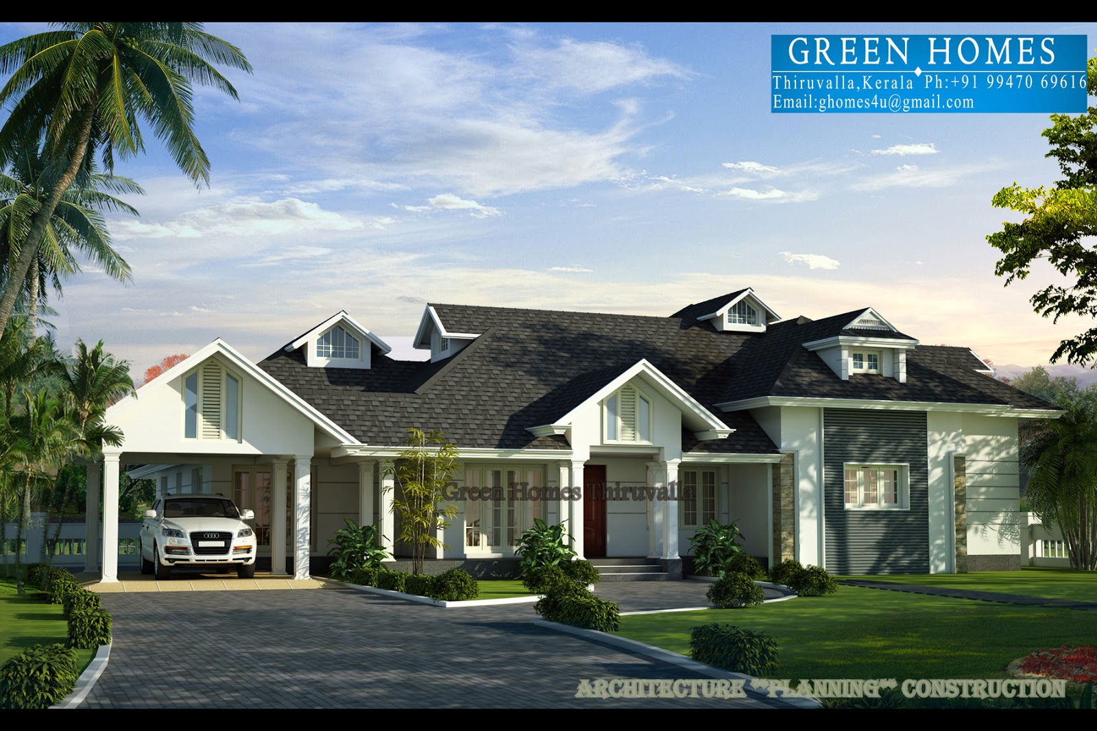 Green homes nalukettu with european style for European style house