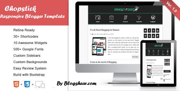 Chopstick Responsive Blogger Template