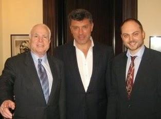 Boris Nemzow und John McCain