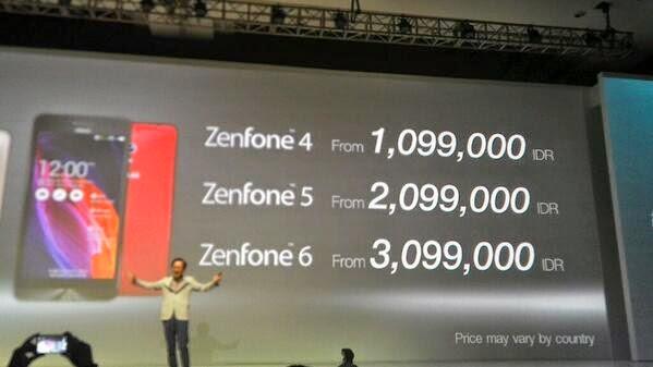Harga Asus Zenfone Series (4,5,6)