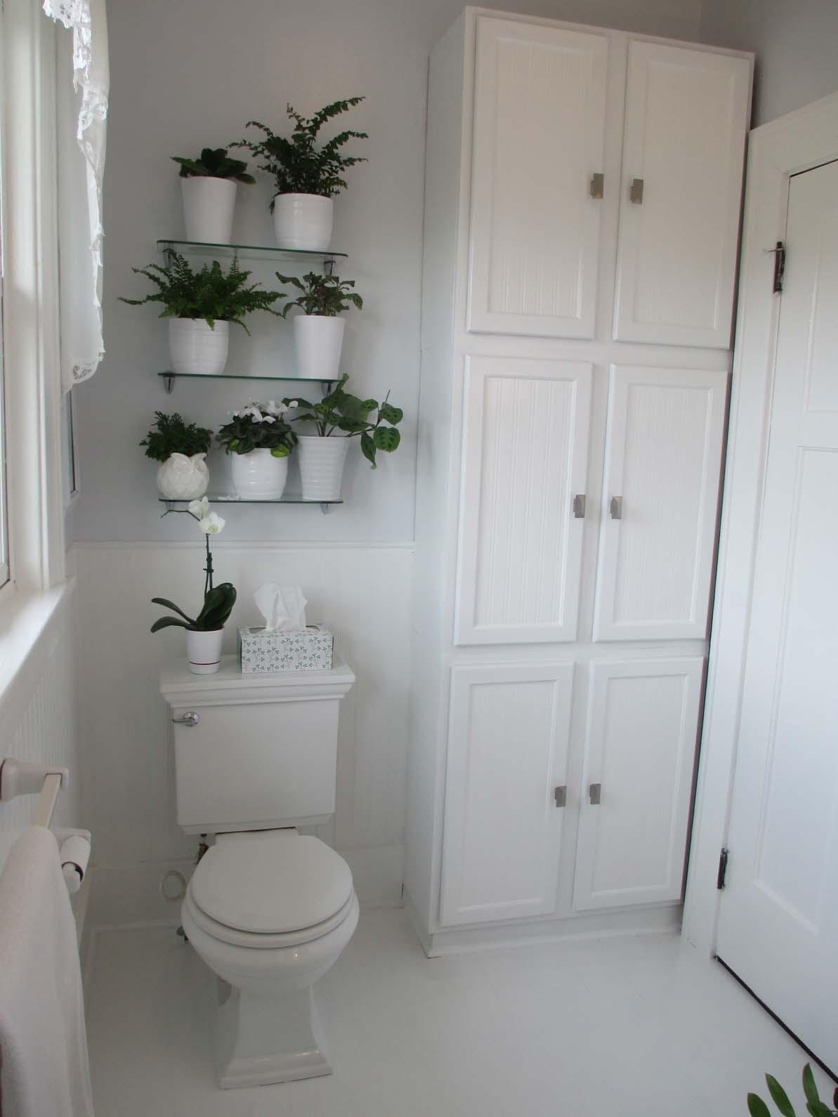 Garden Fancy My New White Plant Filled Bathroom