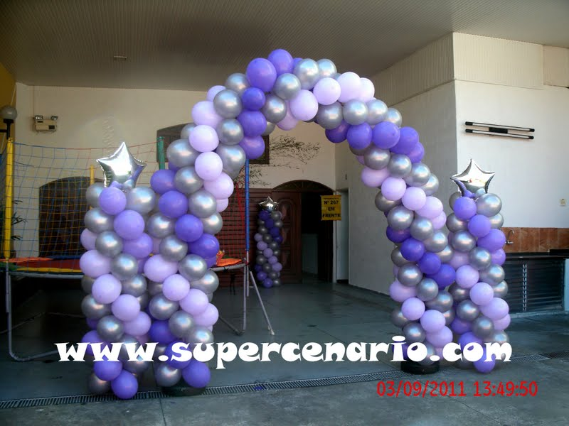 SUPER CENÁRIO Decoração Teen Personalizada Lilás, Prata e Roxo
