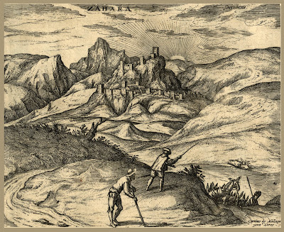 Grabado de Zahara. Hoefnagel.1575
