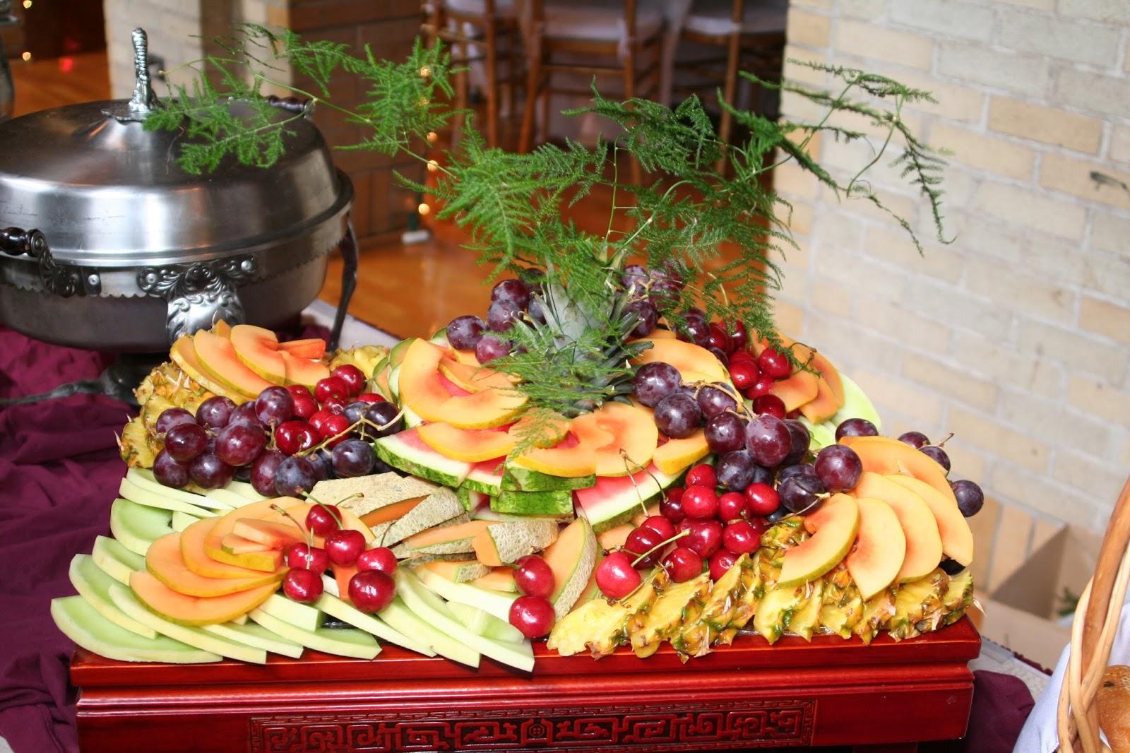 Fresh Fruit On A Wedding Reception Buffet