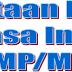 Pemetaan materi Bahasa Inggris SMP/MTs
