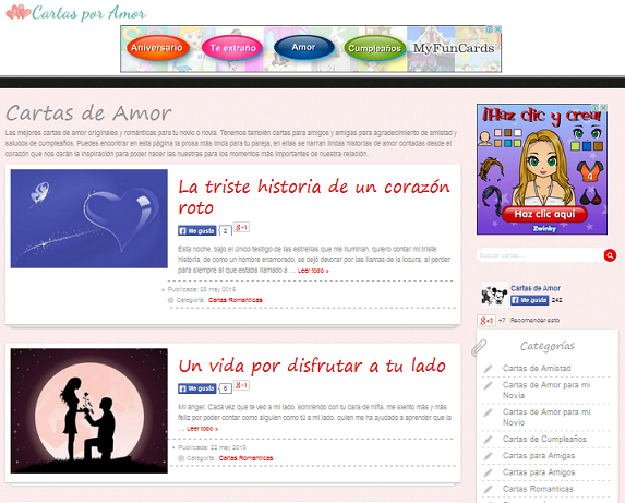 web con mas de 100 mil Cartas de Amor El Blogger N#1 para lectores ...