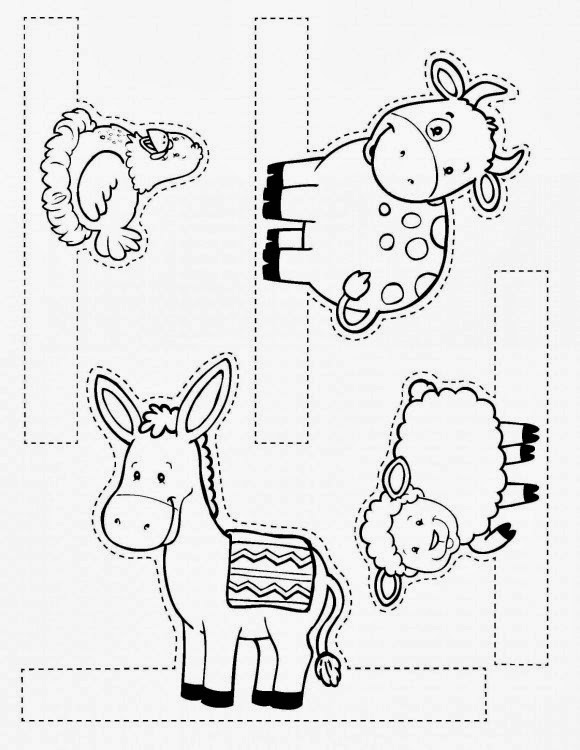 Piccola chiesa domestica presepe for Nativity animals coloring pages