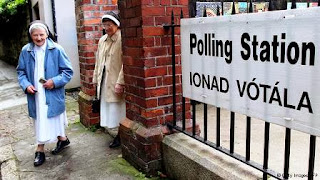 Two nuns carry out their civil duty voting on the Senate referendum