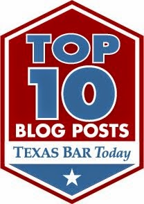 Texas Bar Today Top Ten Blog Posts