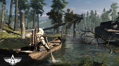 Connor en barca Assassin's Creed III