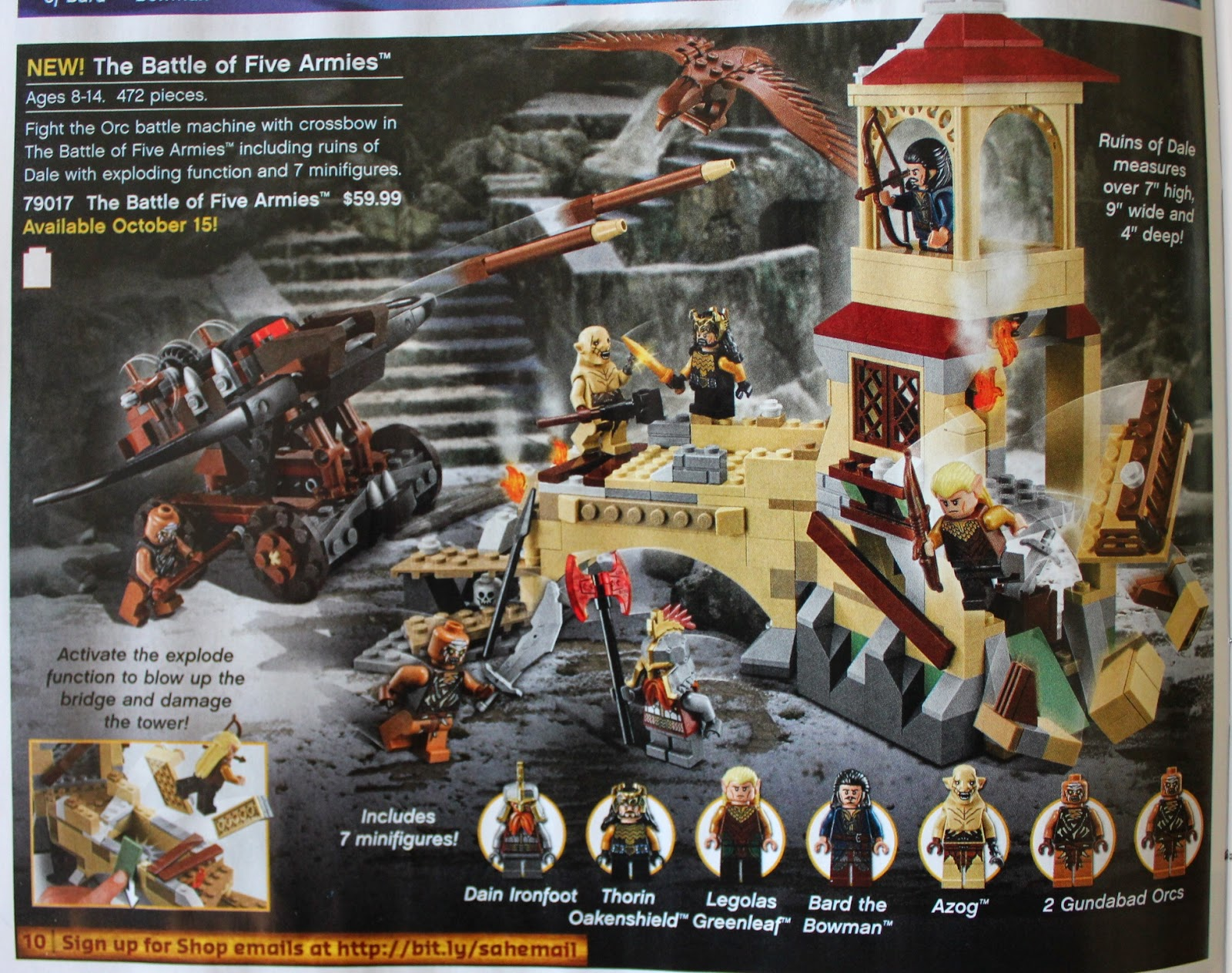 Sons of twilight lego hobbit fall 2014 battle of five armies sets