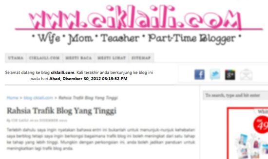 Widget Aluan Untuk Pengunjung Blog