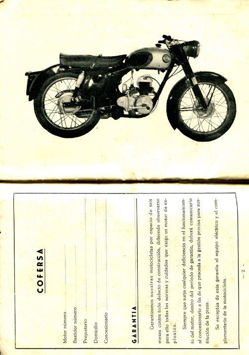 Motocicleta Cofersa 200 (JM 197cc): Recambios