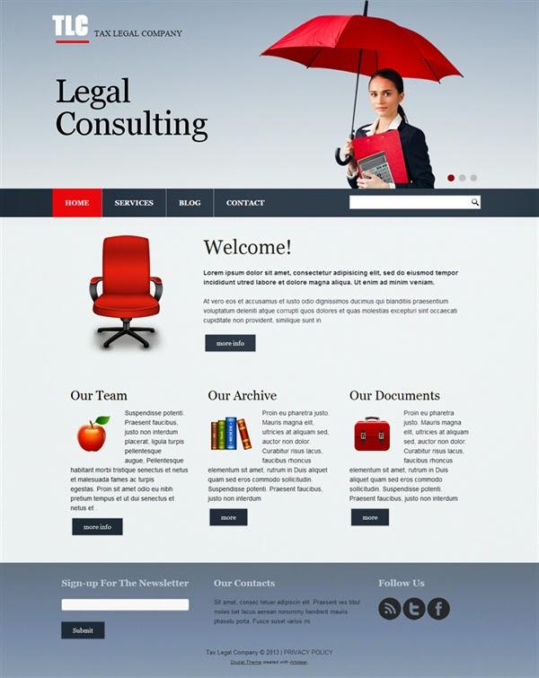 TLC Tax Legal Company - Free Drupal Theme
