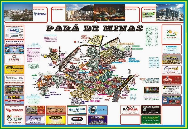 Planta Oficial da Cidade de Pará de Minas 2013/2015