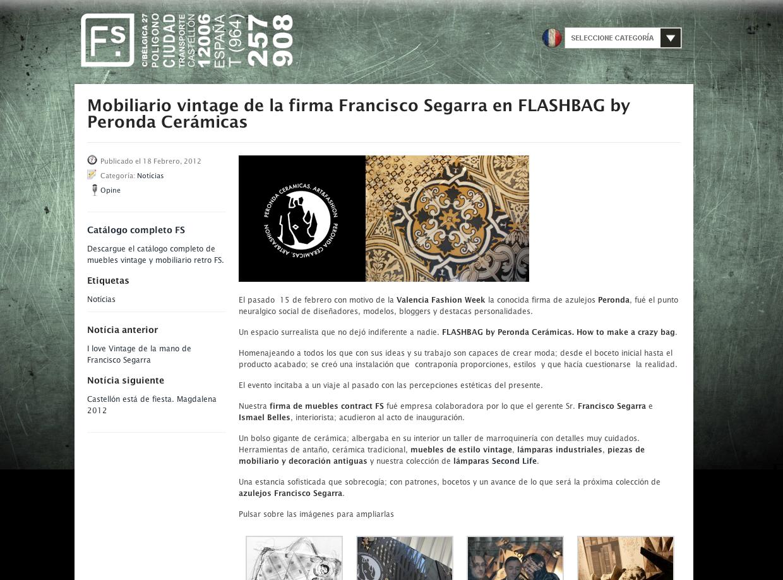 Colaborando con Francisco Segarra mobiliario vintage | PerisAdsuara